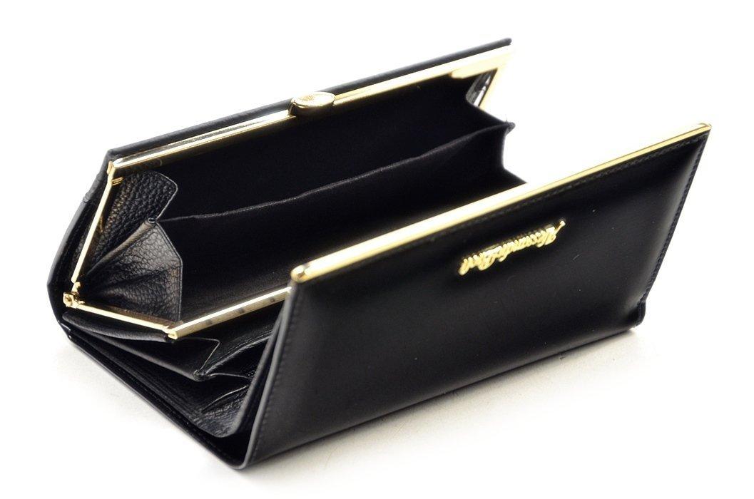 8f80aee7cf7e3 Portfel damski ALESSANDRO PAOLI skóra czarny lakier funkcjonalny