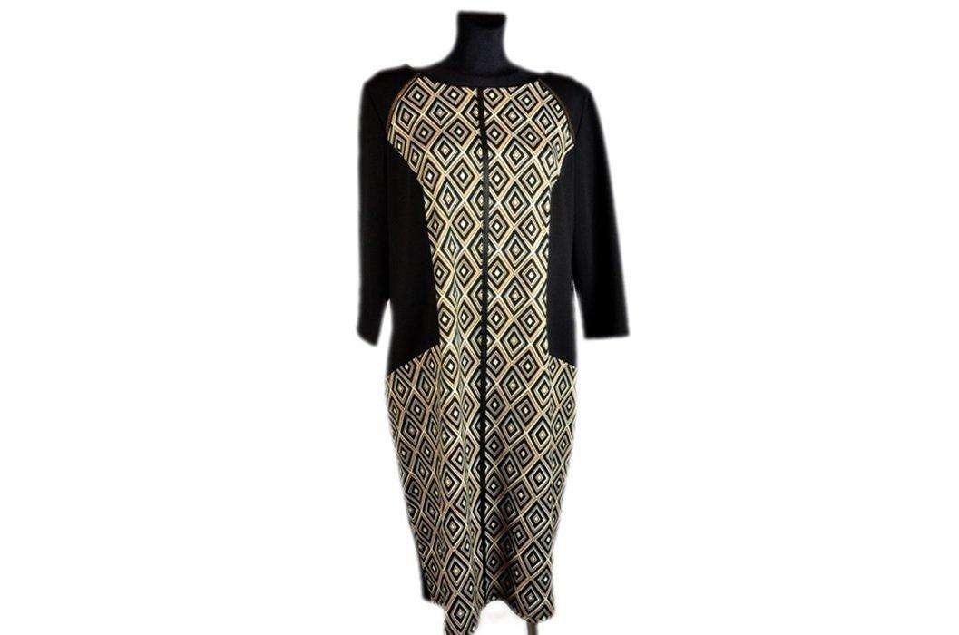 0eac15189b Sukienka damska LUIZA 50 czarna beżowa