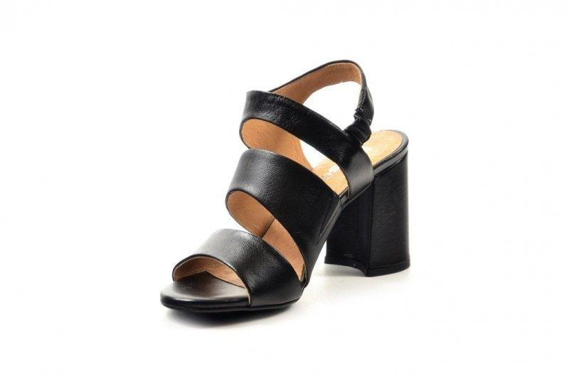 Sandałki 36 słupek ROBSON skóra 2258 czarne