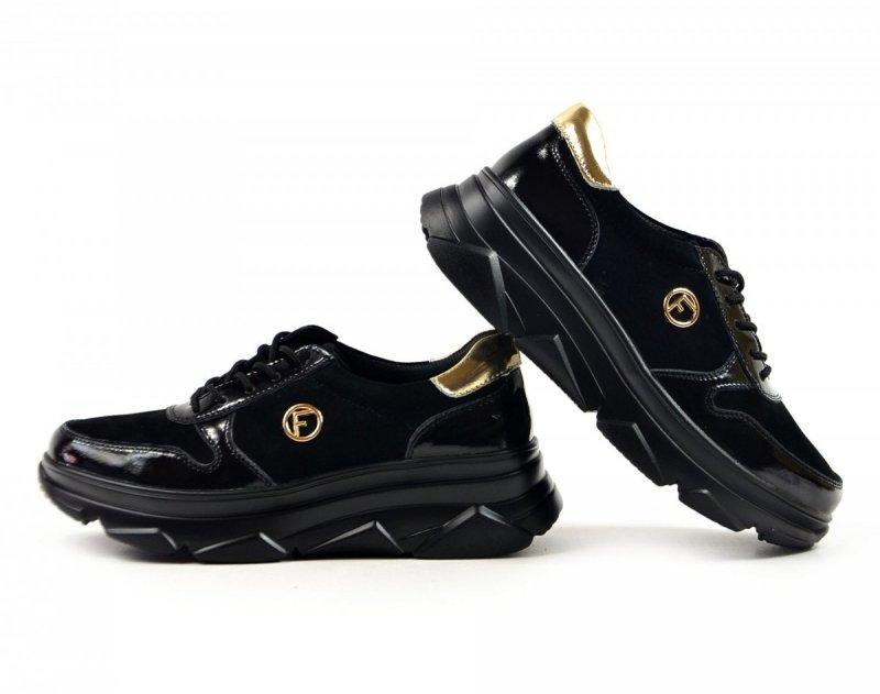 Półbuty 40 sneakersy FILIPPO 3185 skóra czarne