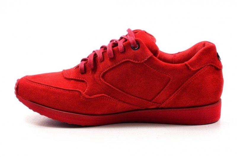 Półbuty 35 tenisówki OLEKSY 2681 skóra czerwone adidasy