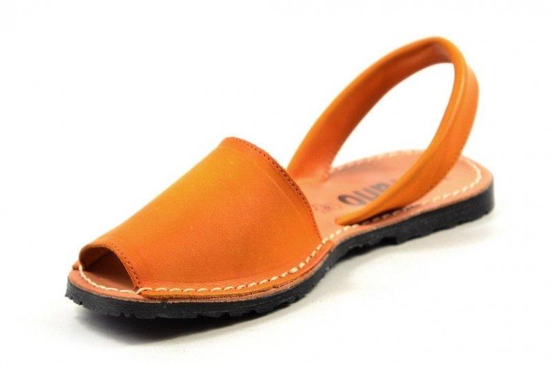 56bcde271a539 Sandały 38 skórzane VERANO 201 miodowe pomarańczowe mango klapki