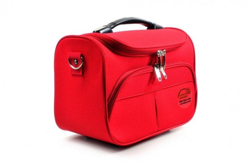 TOREBKA podróżna AIRTEX kuferek czerwona bagaż podręczny