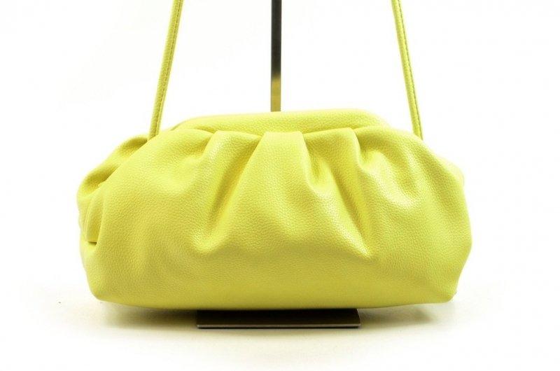 TOREBKA kopertówka wizytowa CESILY jasna żółta