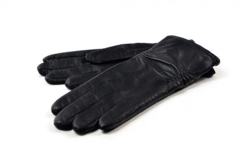 Rękawiczki damskie skórzane czarne M