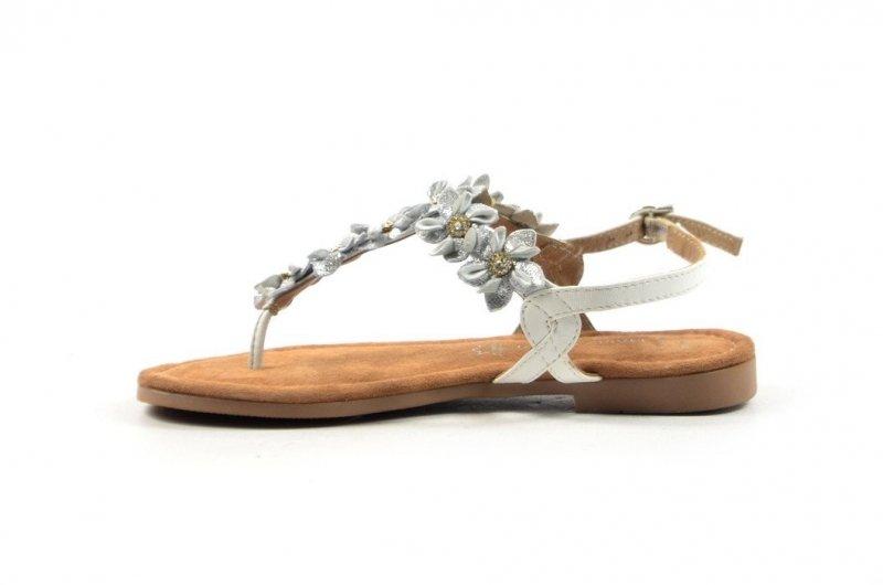 Sandałki 40 japonki MARCO TOZZI skóra 28148 białe