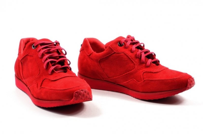Półbuty 37 tenisówki OLEKSY 2681 skóra czerwone adidasy