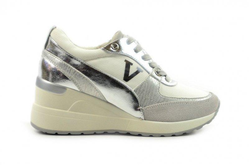 Półbuty 36 sneakersy VINCEZA 10574  srebrne białe