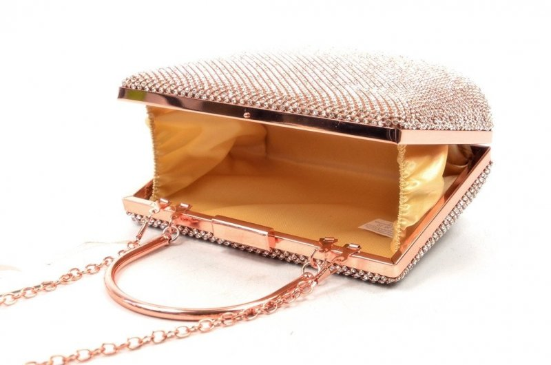 TOREBKA wizytowa kopertówka różowa kryształki MICHELLE MOON