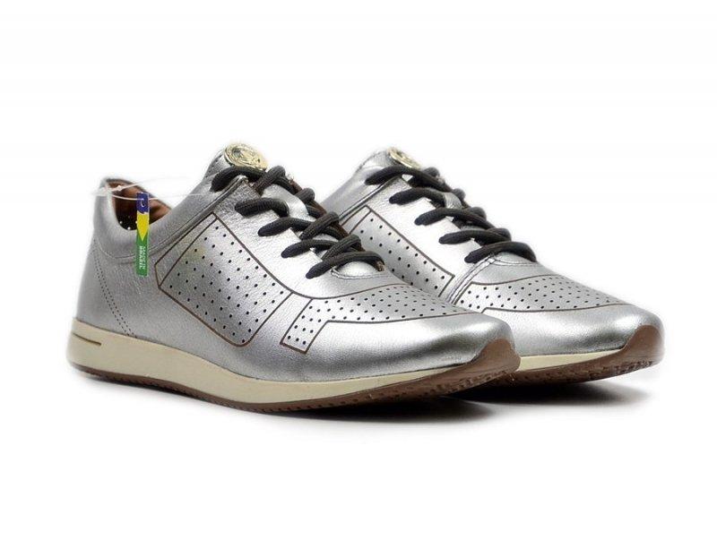 Półbuty 37 tenisówki skórzane CRAVO CANELA srebrne