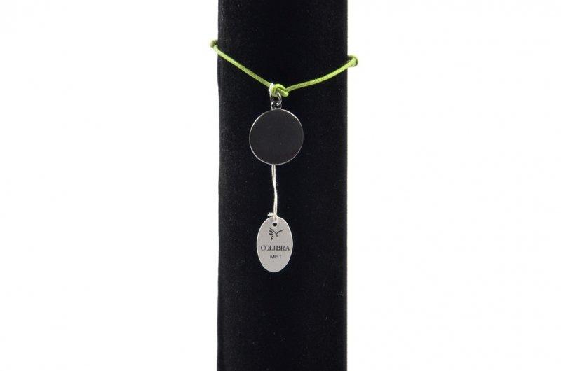 Bransoletka COLIBRA kółeczko sznurek zielony