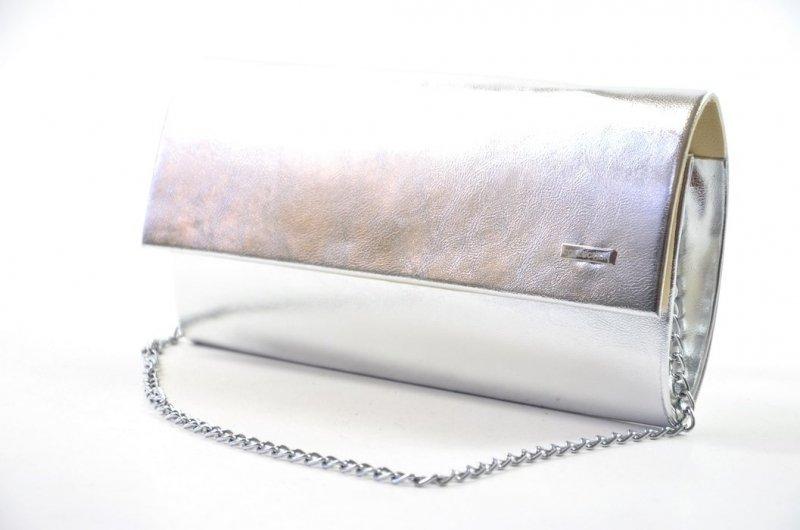 TOREBKA kopertówka wizytowa srebrna