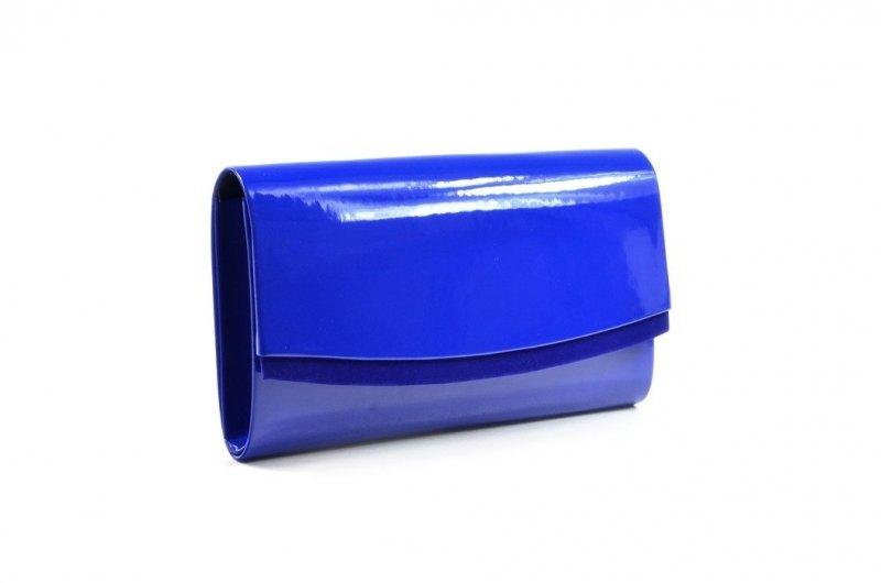 TOREBKA kopertówka SAPAR wizytowa niebieska chabrowa lakier