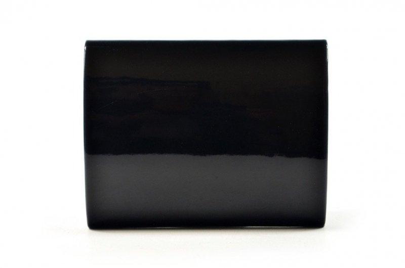 TOREBKA kopertówka LAURA BIAGGI wizytowa czarna lakier