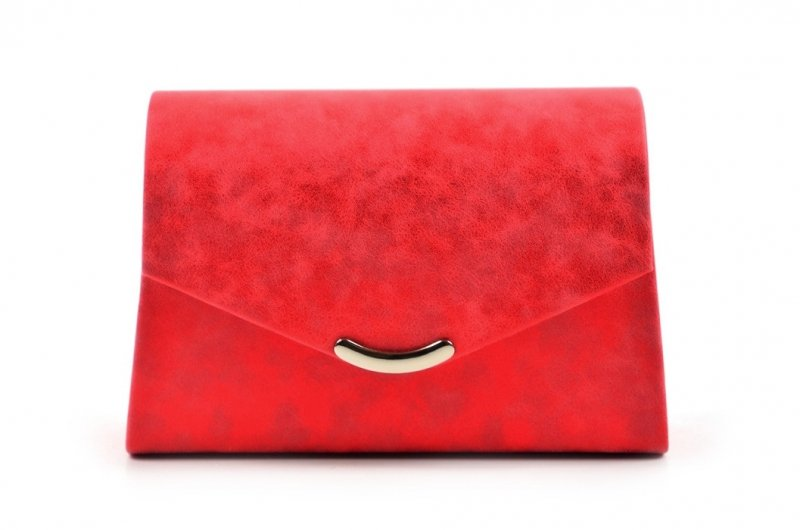 TOREBKA kopertówka SAPRI wizytowa czerwona marmurek
