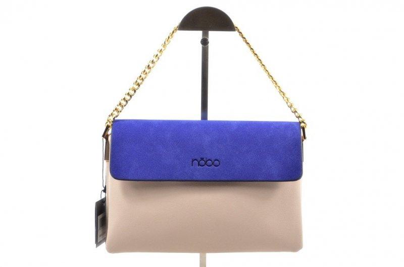 TOREBKA damska NOBO BAG 0490 beżowa niebieska listonoszka
