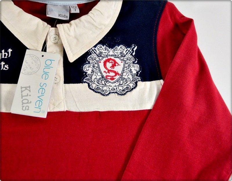 Blue Seven Bluzka długi rękaw czerwona WYPRZEDAŻ