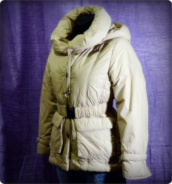 Kurtka damska zimowa COCOMORE beż 38 kaptur