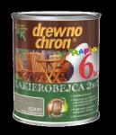 Drewnochron 2w1 Lakierobejca SZARY 10L drewna do
