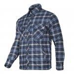 LAHTI PRO Koszula zimowa ocieplana flanelowa M robocza granatowo-niebieska