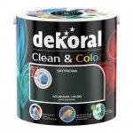 Dekoral CLEAN & COLOR 2,5L Ażurowa Czerń satynowa farba lateksowa