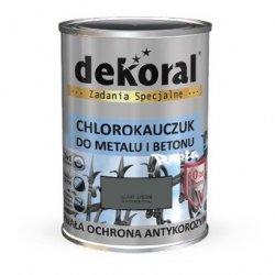 Dekoral Chlorokauczuk 4,5L SZARY ŚREDNI RAL7010 farba emalia