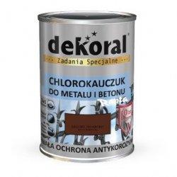 Dekoral Chlorokauczuk 0,9L BRĄZOWY MAHONIOWY RAL8016 farba emalia