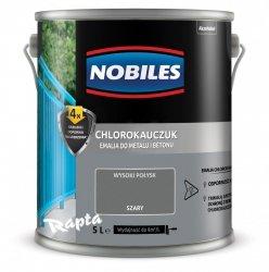Chlorokauczuk 5L SZARY Nobiles farba emalia