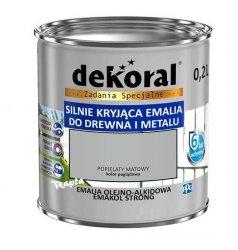 Dekoral Olejna 0,2L POPIELATY MAT emakol alkidowa emalia strong