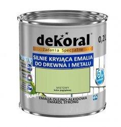 Dekoral Olejna 0,2L MIĘTOWY emakol alkidowa emalia strong