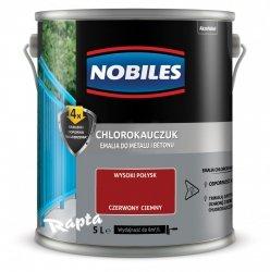 Chlorokauczuk 5L CZERWONY CIEMNY Nobiles farba emalia
