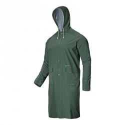 LAHTI PRO Płaszcz przeciwdeszczowy XL kaptur PVC wodoodporny zielony