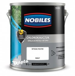 Chlorokauczuk 5L BIAŁY Nobiles farba emalia biała