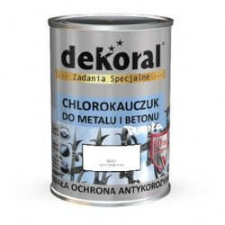 Dekoral Chlorokauczuk 0,9L BIAŁY RAL9003 farba emalia