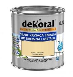 Dekoral Olejna 0,2L KOŚĆ SŁONIOWA emakol alkidowa emalia strong