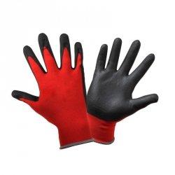 Rękawice ochronne robocze porowaty lateks roz. 9 L