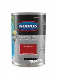 Chlorokauczuk 1L CZERWONY CIEMNY Nobiles farba emalia