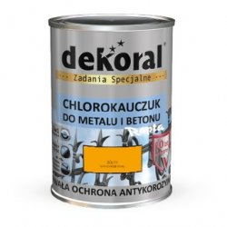 Dekoral Chlorokauczuk 5L ŻÓŁTY RAL1007 farba emalia
