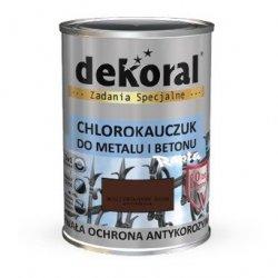 Dekoral Chlorokauczuk 10L BRĄZ CZEKOLADOWY ŚREDNI RAL8017 farba emalia