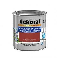 Dekoral Olejna 0,2L CZERWONY KARMINOWY emakol alkidowa emalia strong