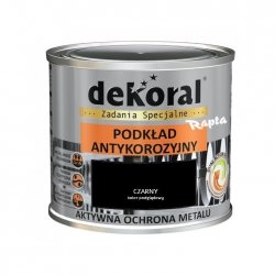 Dekoral Podkład Unikor 0,5L CZARNY Antykorozyjny na rdzę czarna