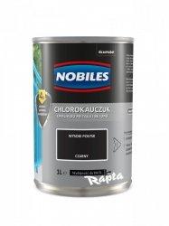 Chlorokauczuk 1L CZARNY Nobiles farba emalia czarna