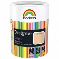 Beckers 2,5L LIGHT BROWN Designer Colour farba lateksowa