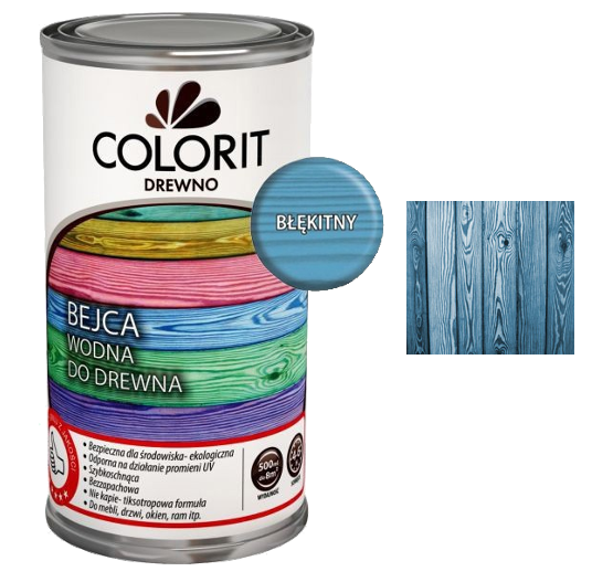 Colorit Bejca Wodna Do Drewna 1L BŁĘKITNY do