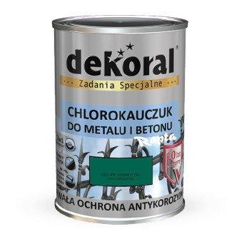 Dekoral Chlorokauczuk 0,9L ZIELEŃ KANADYJSKI RAL6016 farba emalia