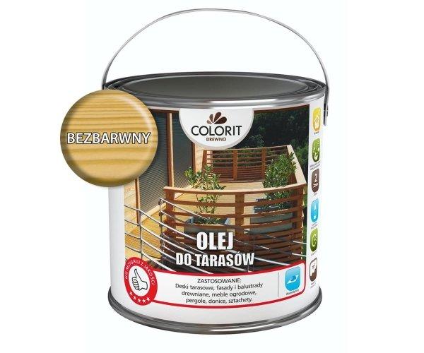 Colorit Olej Do Drewna Tarasów 2,5L BEZBARWNY Z UV