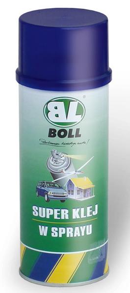 BOLL Super Klej Spray 400ml Tapicerski Pianki Piramidki Maty Panele Gąbki Sprayu