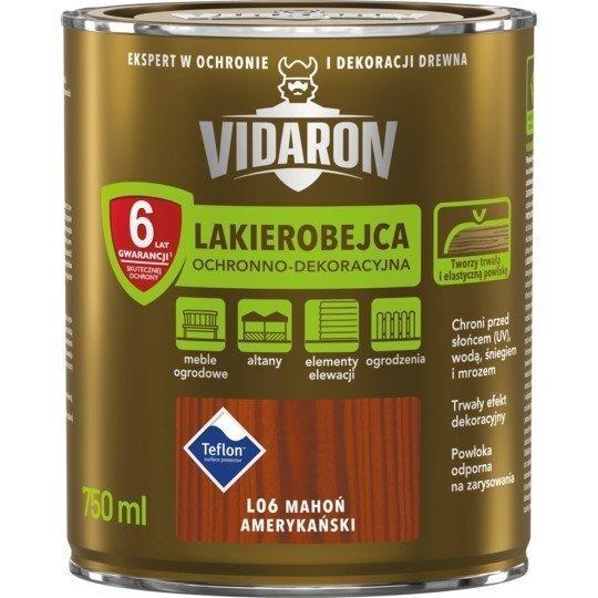 Vidaron Lakierobejca 0,75L L06 Mahoń Amerykański do drewna