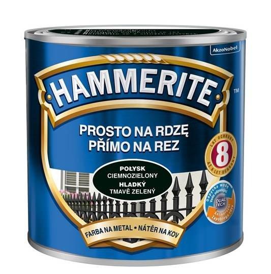 Hammerite Na Rdzę 0,25L CIEMNOZIELONY POŁYSK hamerite farba
