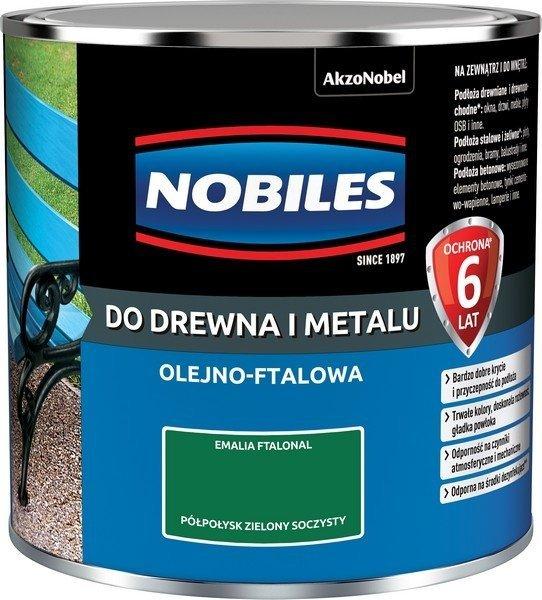 Nobiles olejna 0,25L ZIELONY SOCZYSTY farba Ftalonal emalia